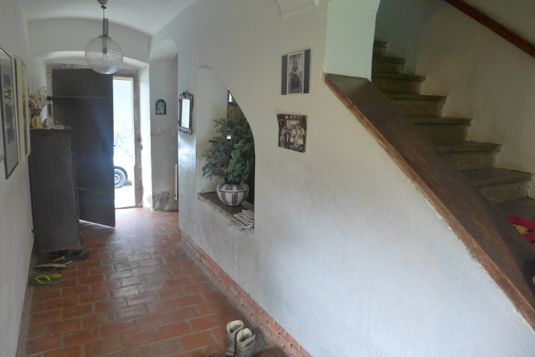 Corridor leading to the front of the house