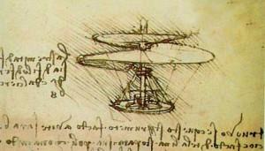 Boceto original de Da Vinci.