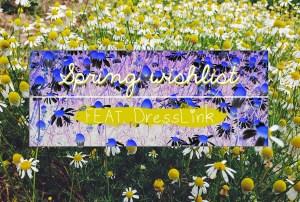 INSPO 004 | Spring Wishlist with DressLink ad