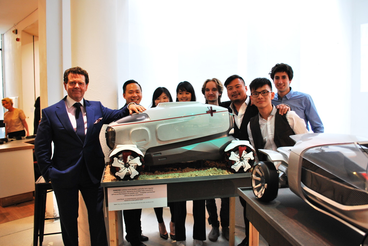 From left to right: Land Rover Design Director Gerry McGovern, Ed Tam, Jye Moon, Supaluck Benyasarn, Florian Kainz, Tony Lien, Yihui Guo and Pere Bruach
