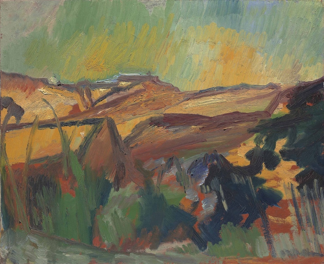 David Bomberg (1890-1957) Ronda Valley, Spain, 1954