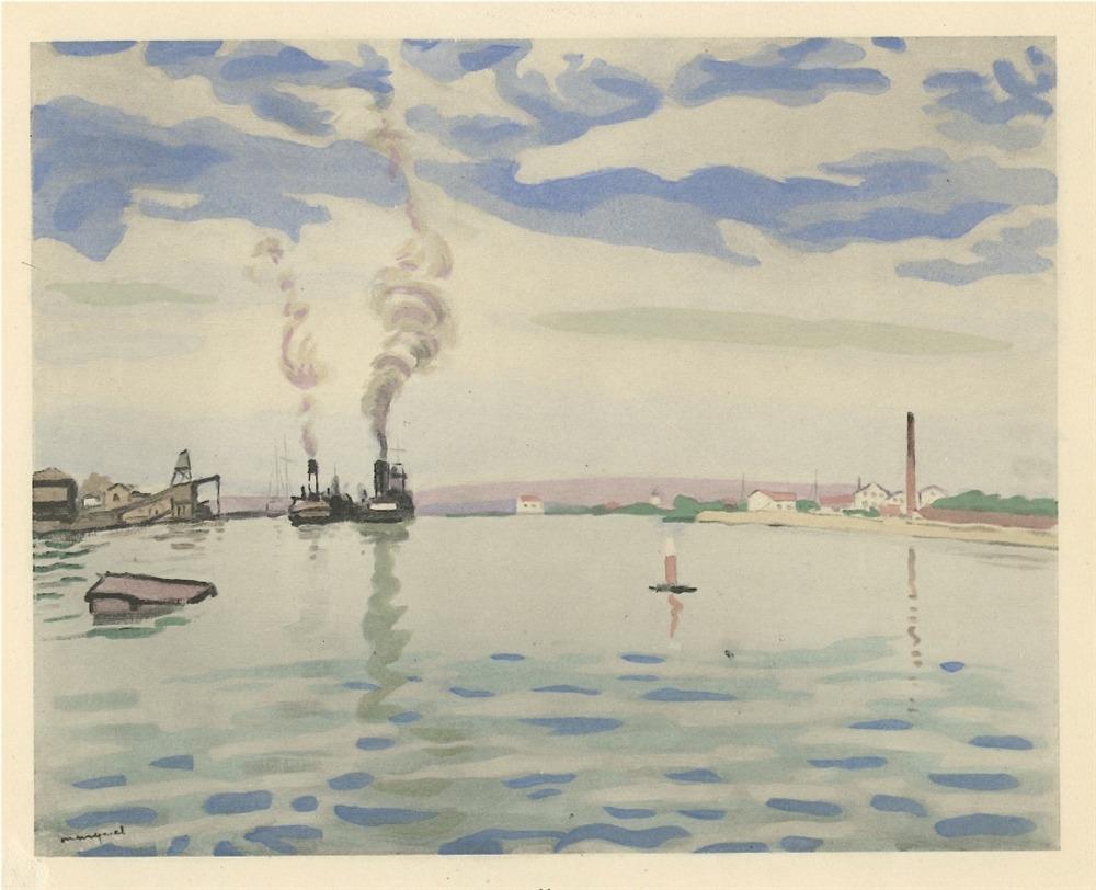 f0rtylegz:  ~Albert Marquet~  Le Port de la Goulette  (1928)