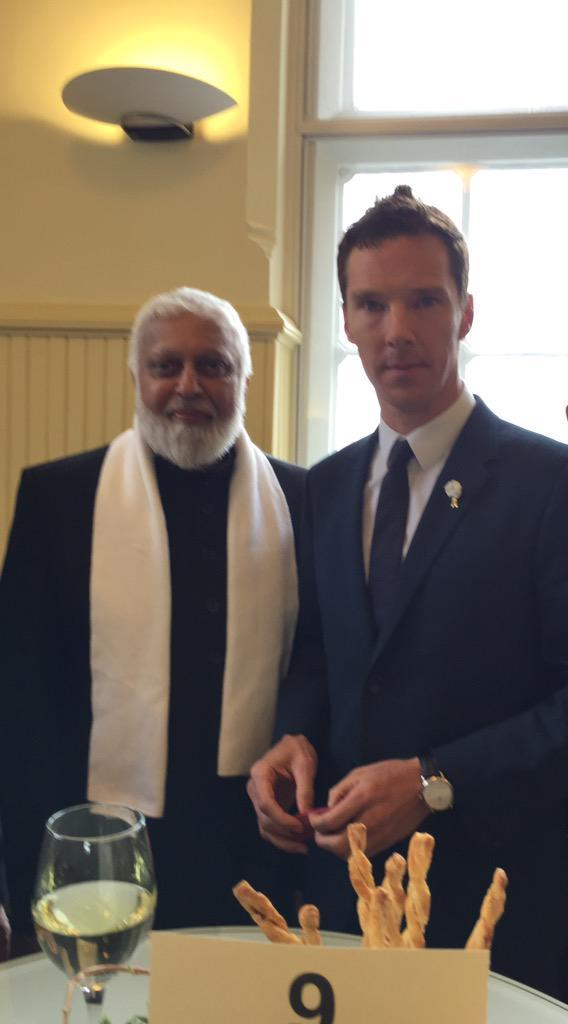 talalyla:FMO@FMO_LeicsPleased to meet HRH The Duke of Gloucester, Archbishop of Canterbury @JustinWelby and Actor Benedict Cumberbatch we