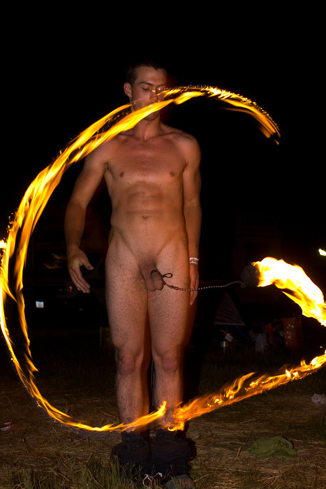 naked fire spinner