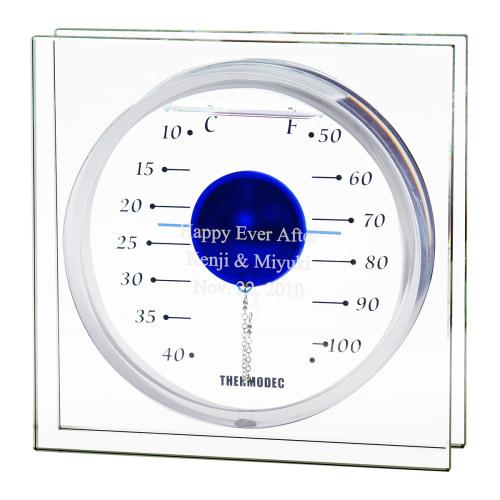 ガリレオ温度計 フロートブルーL