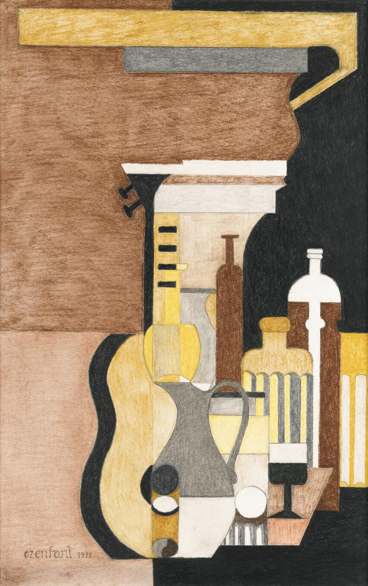 thunderstruck9:  Amédée Ozenfant (French, 1886-1966), Fugue, guitare et architecture, 1922. Pastel and pencil on paper, 51.4 x 35.9 cm.