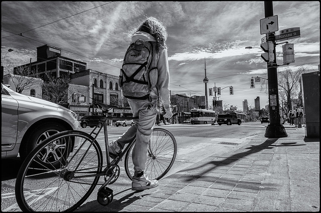 pontjojito: Cyclist in Toronto by syncr...