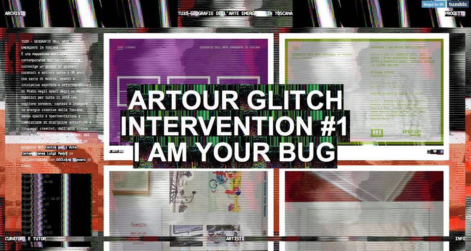 Artour Glitch, Intervention #1 I am your bug, 2015 | Massa Carrara Ipotenusa. Una mostra irrealizzabile