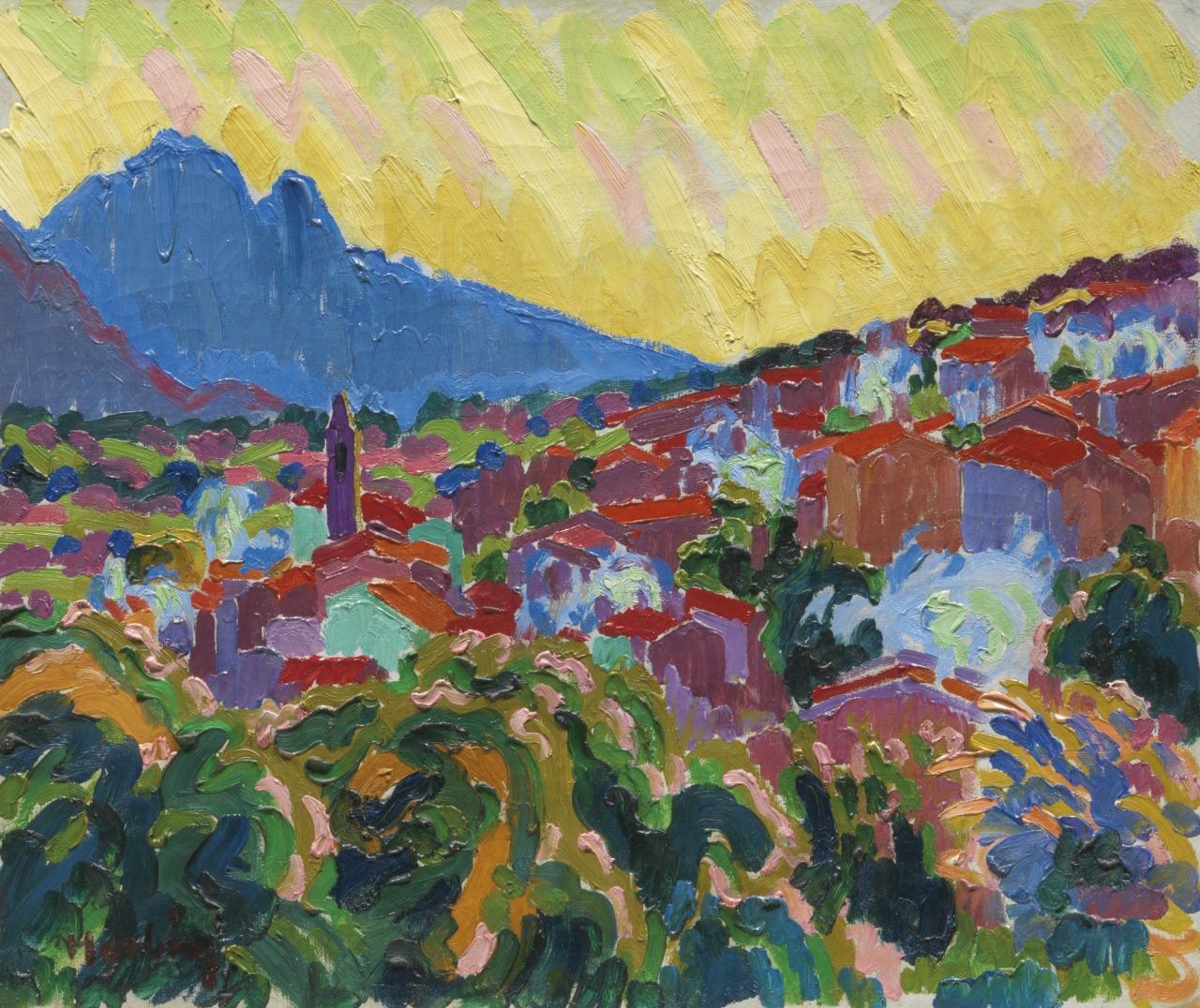 lawrenceleemagnuson:Auguste Herbin (1882-1960)Vue d'un village Corse - View of a Corsican village (1907)oil on canvas 46.3 by 55.2cm