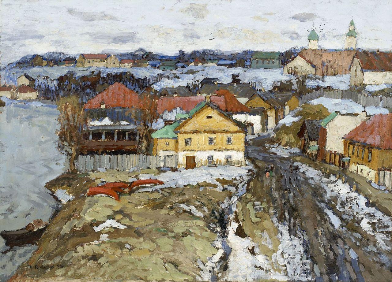 amare-habeo:Konstantin-Ivan-Gorbatov_Village-russe-au-printemps