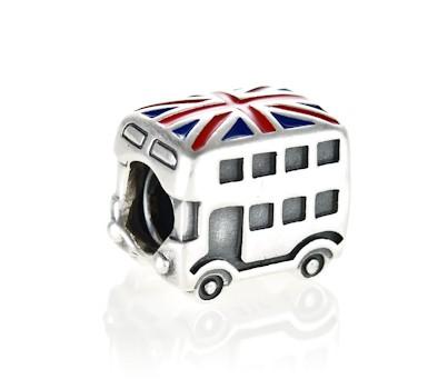 PANDORA Silver London Bus Charm 791049ER John Greed