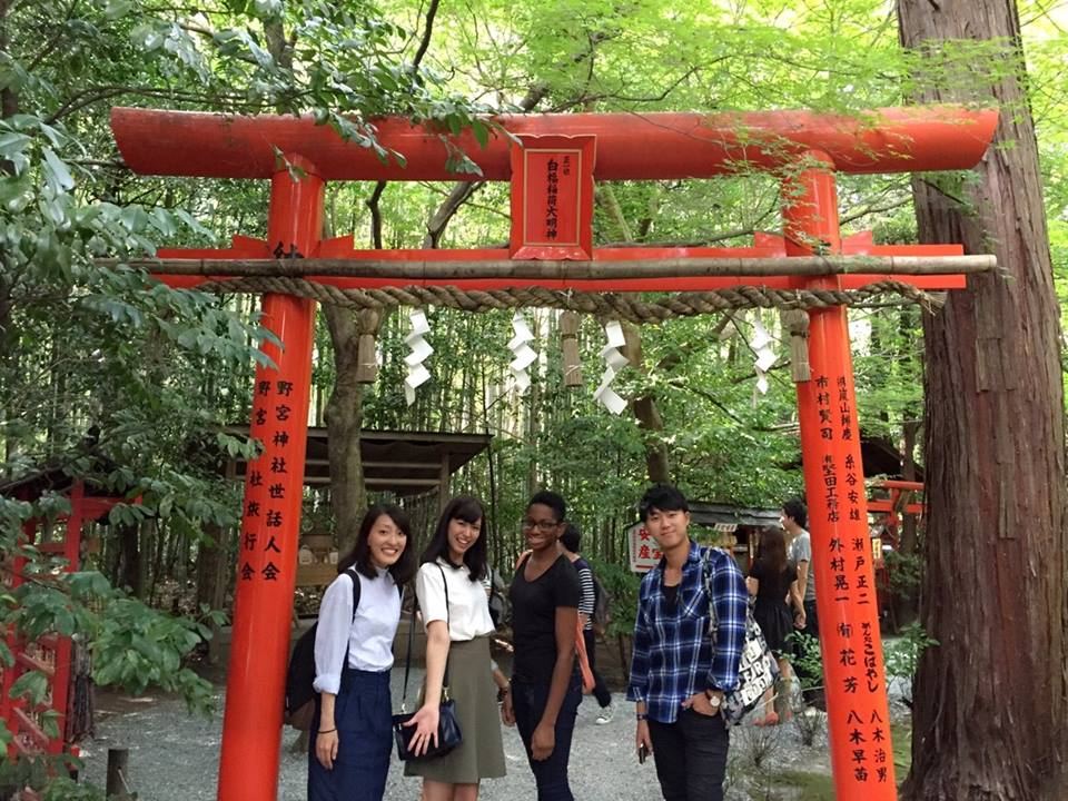 With the DESA crew at Arashiyama