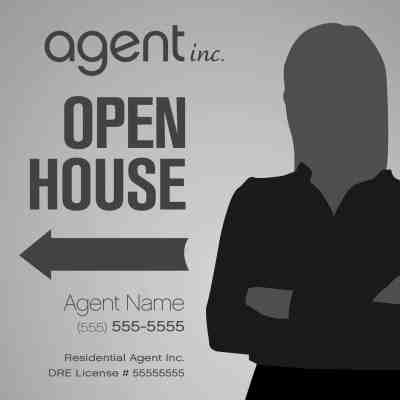 Agent Inc. Open House Sign Template