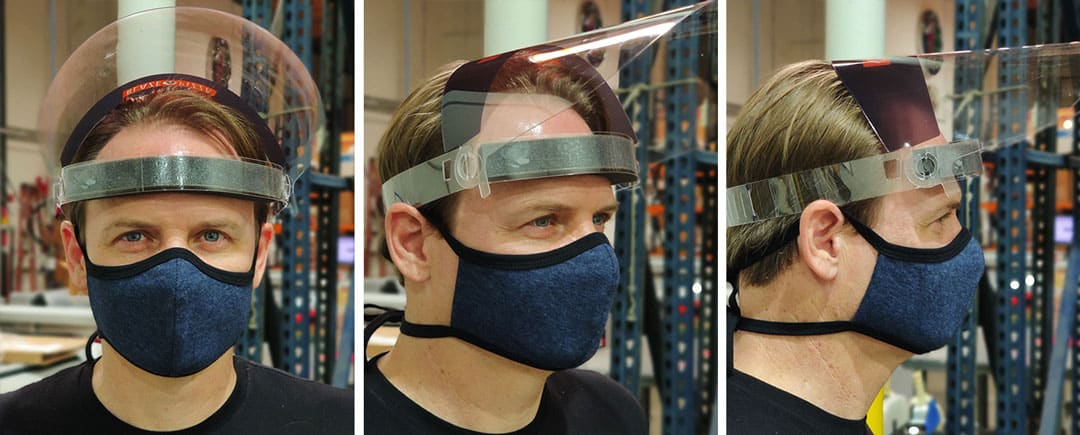 Flip Up PPE Face Shields - 360 Branded