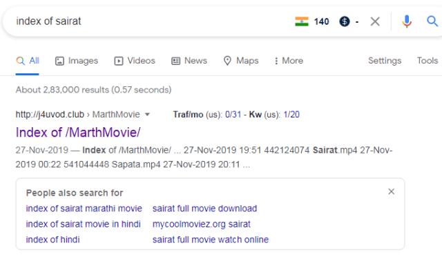 index of marathi movie -