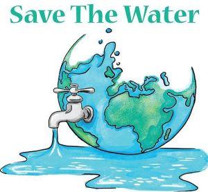 Save Water Drawing Sketch 2 -
