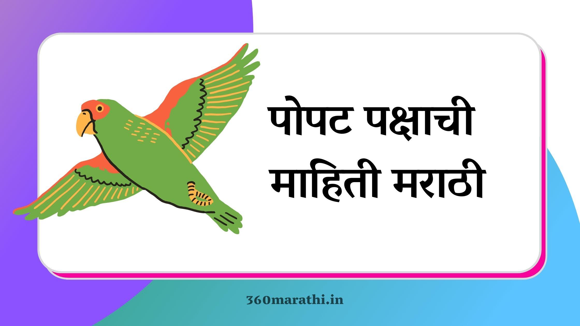 पोपट पक्षाची माहिती मराठी   Parrot Information in Marathi