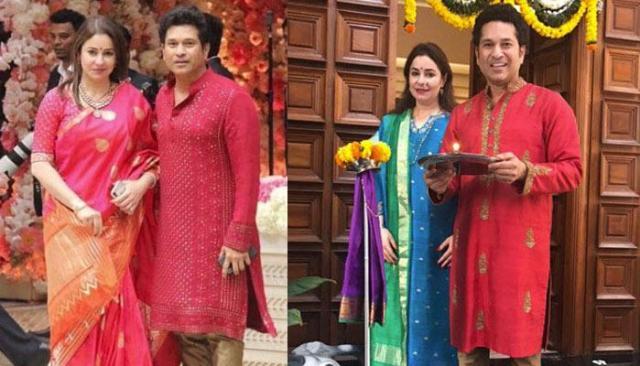 sachine and anjali tendulkar -