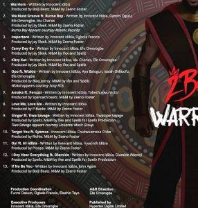 2baba, Unveils The 'Warriors' Album Release Date