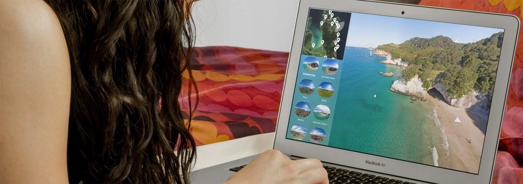 Coromandel virtual tour on macbook air