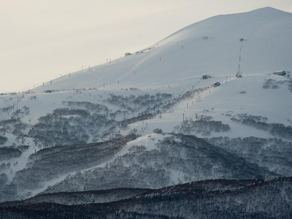 Grand Hirafu with Miharashi in the foreground, 14 January 2013