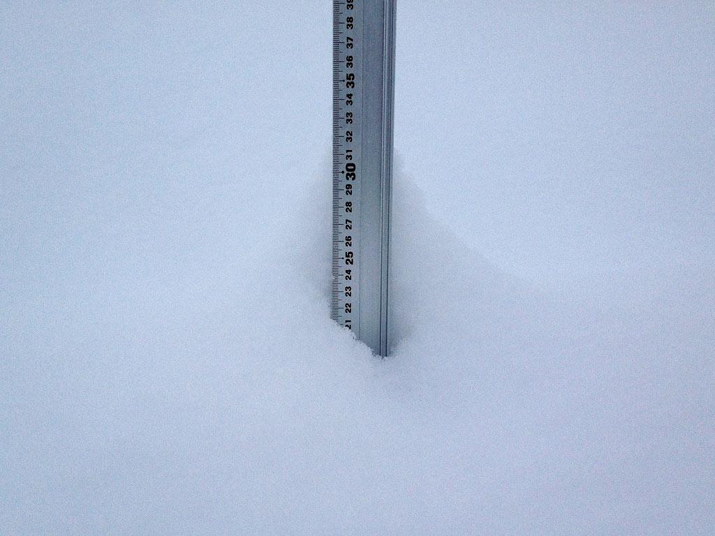 Snow fall depth in Hirafu Village, 17 January 2013