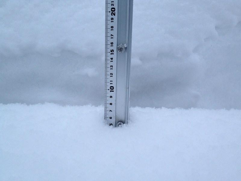 Snow fall depth in Hirafu Village, 4 February 2013