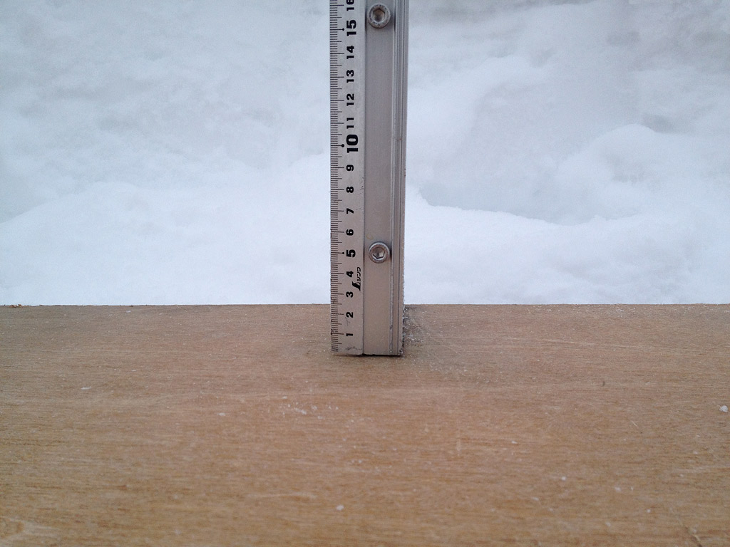 Snow fall depth in Hirafu Village, 7 February 2013