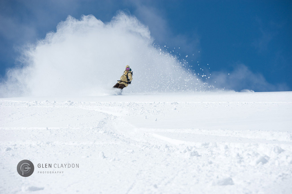 Trevor Ponting emerging from the white room of the peak, 29 March 2010