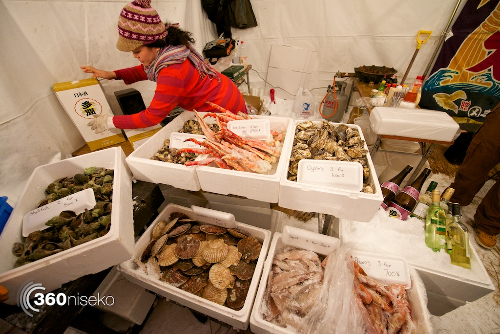 Great selection of Hokkaido seafood to put on their BBQ