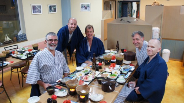 Japanese Dinner at a ryokan