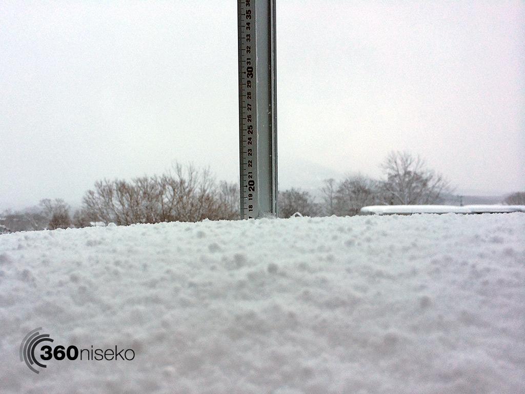 Snowfall in Hirafu Village, 2 January 2013