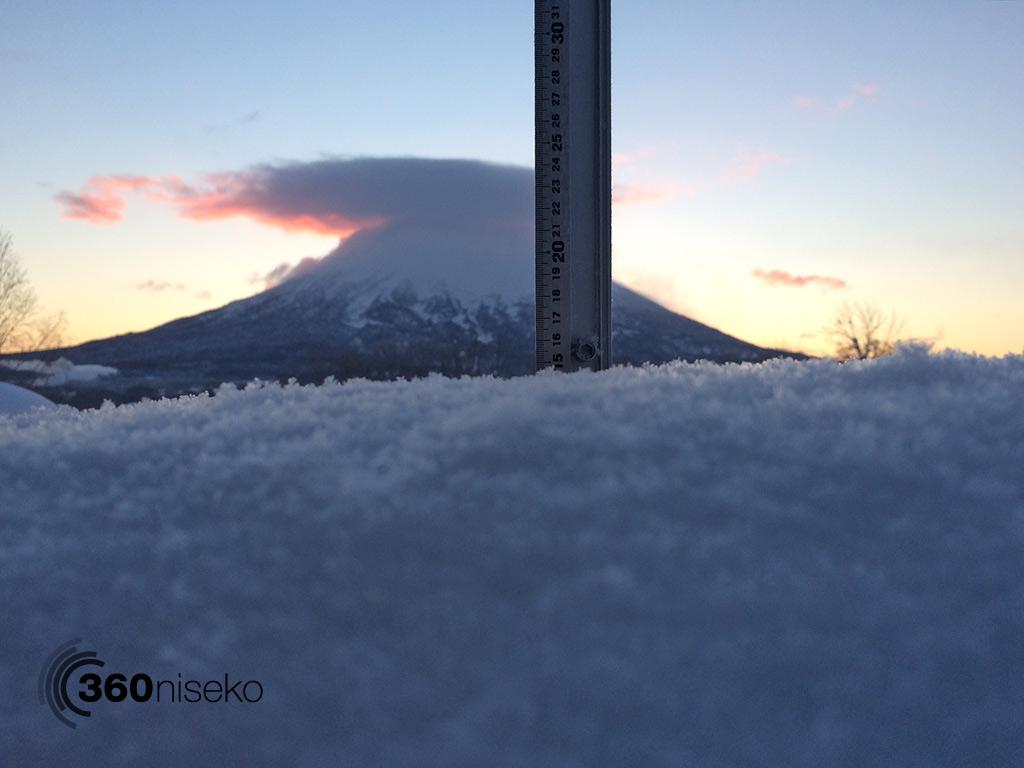 Snowfall in Hiarfu Village, 17 January 2014