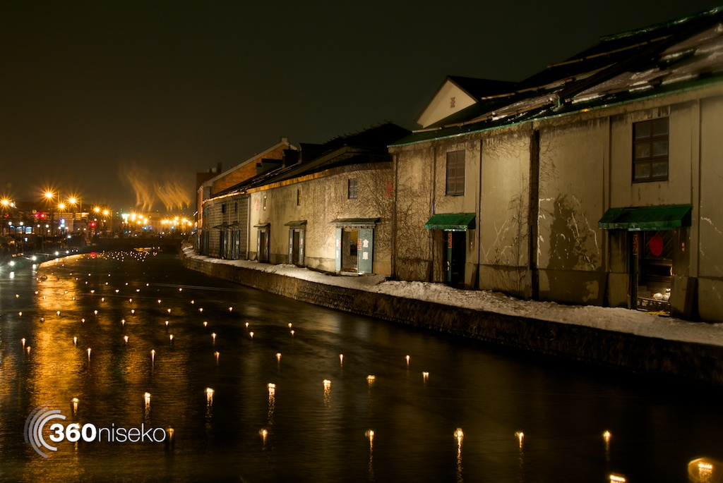 Otaru-Snow-Light-Path-Old-Canal