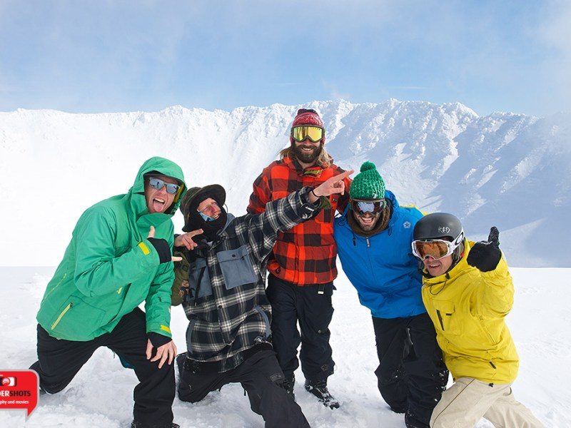 Happy Hikers on top of Mt. Yotei with Niseko Xtreme, 25 February 2014
