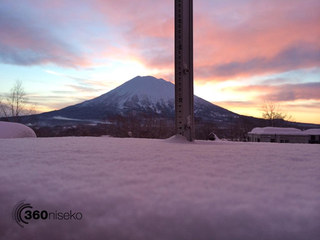 Snowfall in Hirafu Village, 5 February 2014