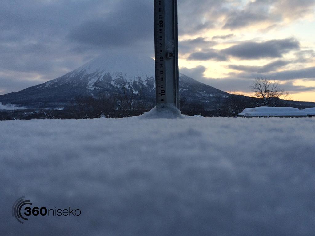 Snowfall in Hirafu Village, 8 February 2014