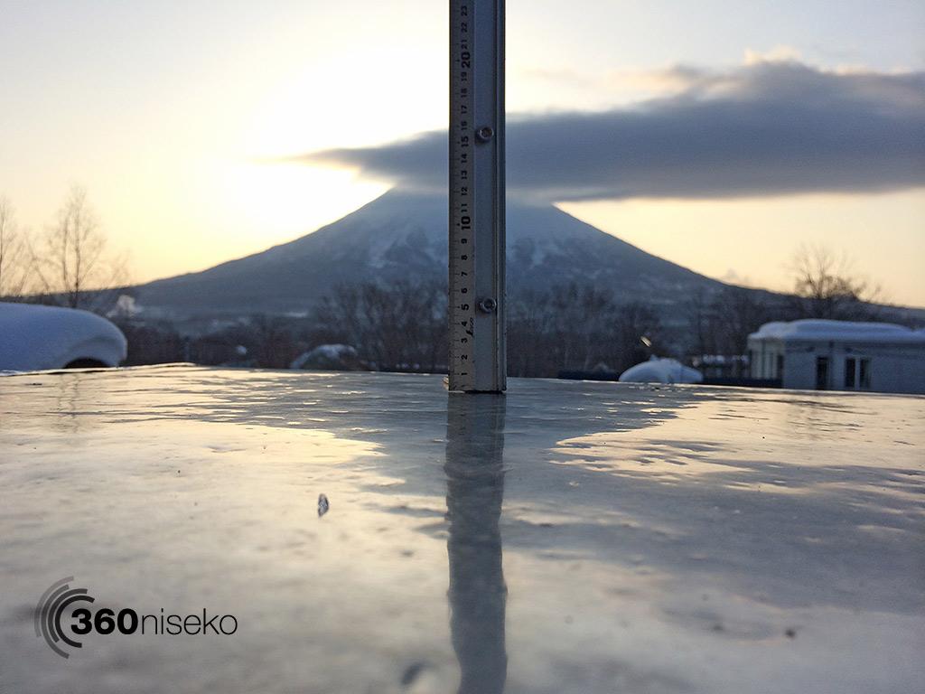 Snowfall in Hirafu Village, 26 February 2014