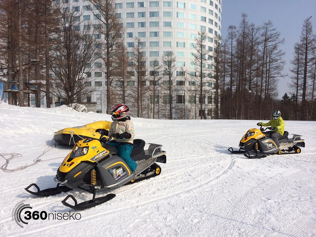 Snowmobiling at Niseko Village, 27 February 2014
