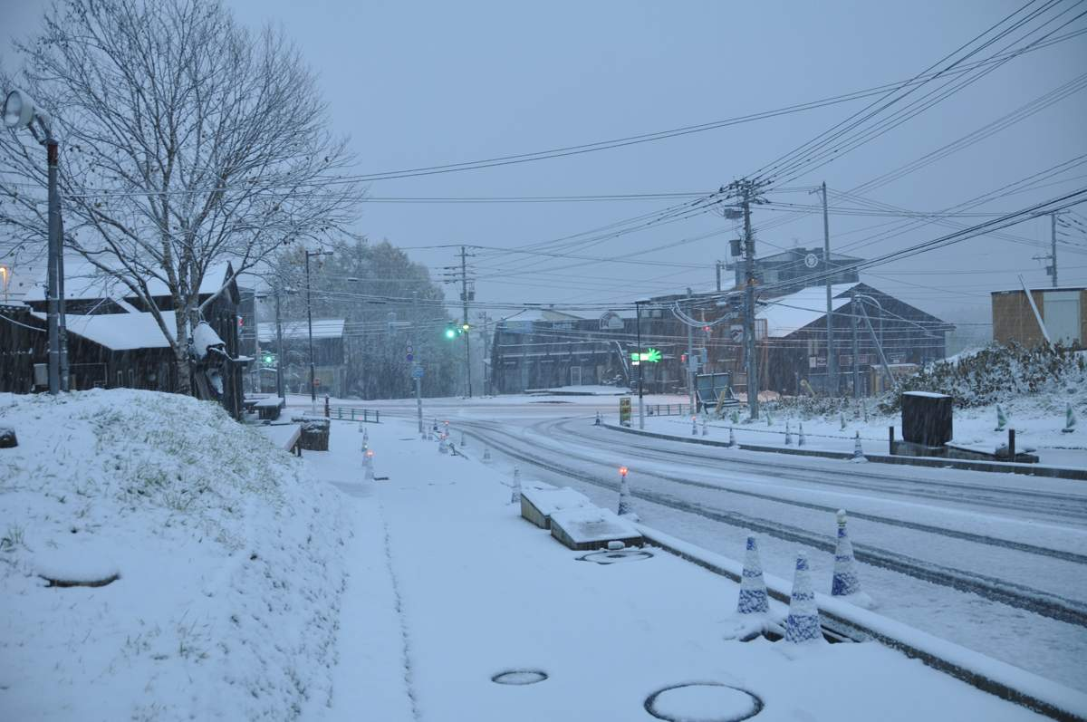 First Snow Hirafu Village 2014