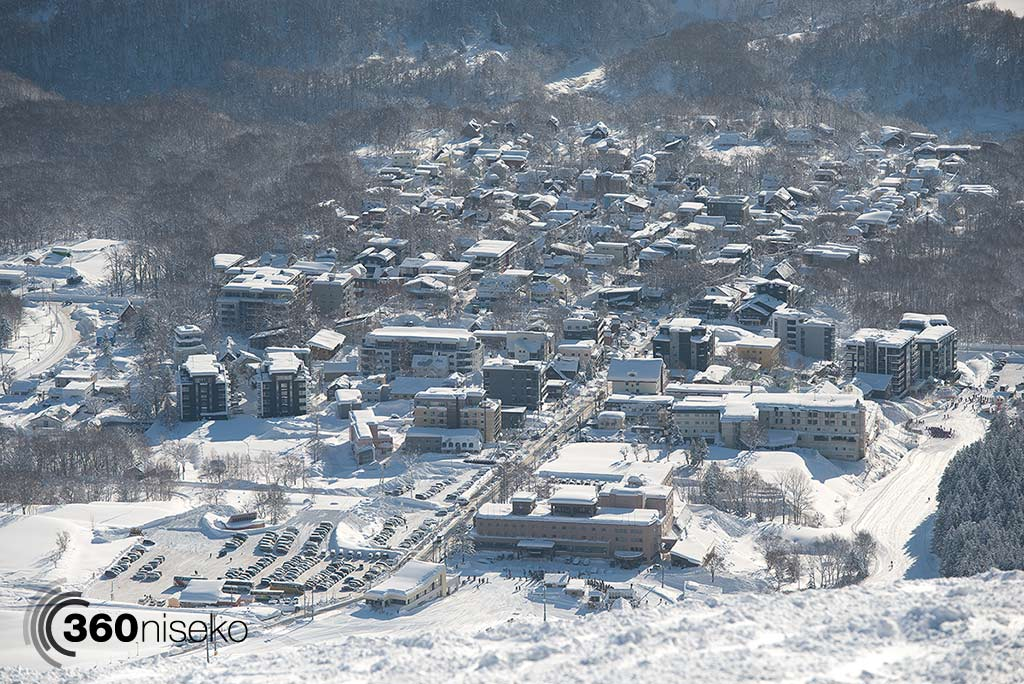 Hirafu Village sitting pretty under a deep layer of snow, 23 January 2014
