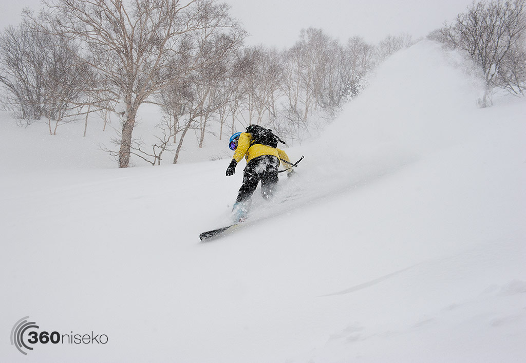 Dan ripping up some Hanazono powder! 17 January 2015