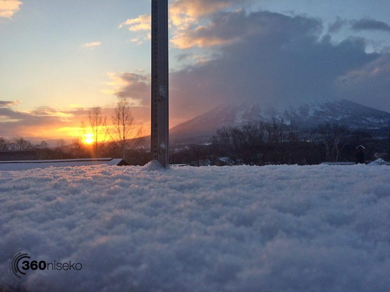 Niseko sunrise 5:24, 8 April 2015