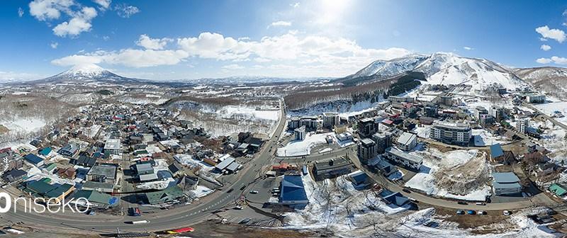 100 meters above Hirafu Village, 8 April 2015