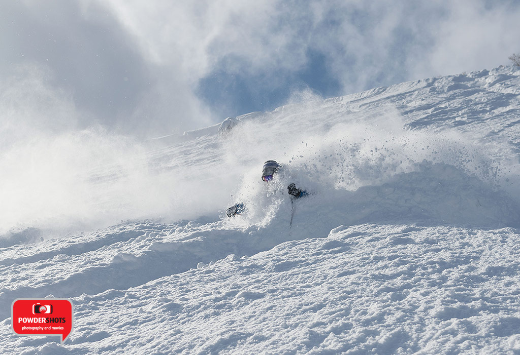 Gondola Snowsports instructor Vincent leads a class on an all-time Niseko powder day in February, 2015