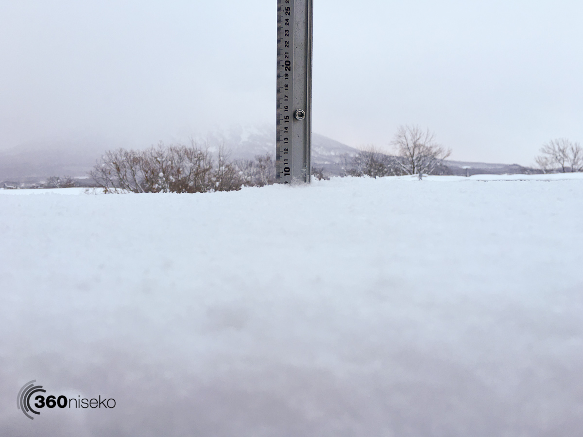 Snowfall in Hirafu Village, 5 February 2016