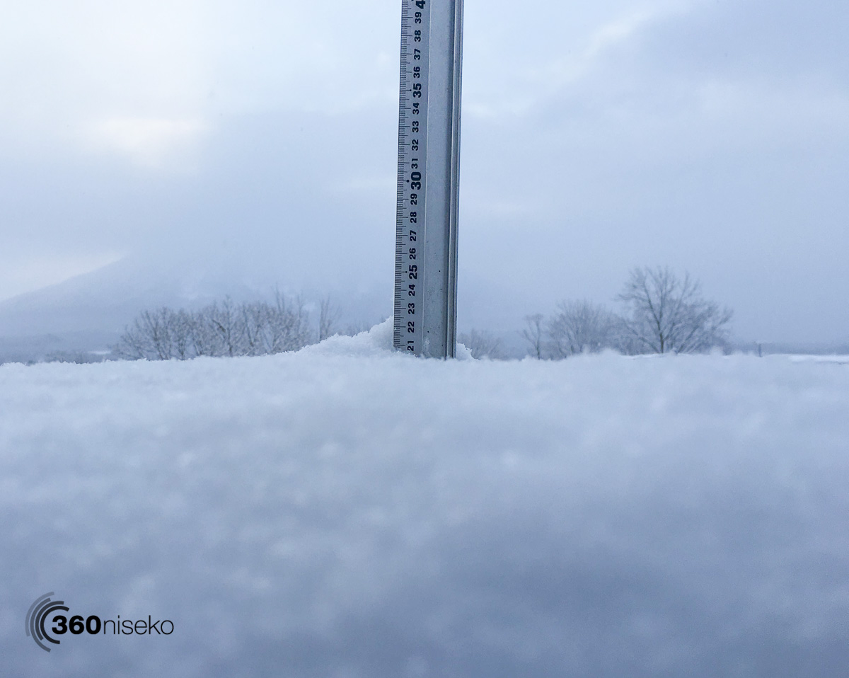 Snowfall in Hirafu village, 2 March 2016