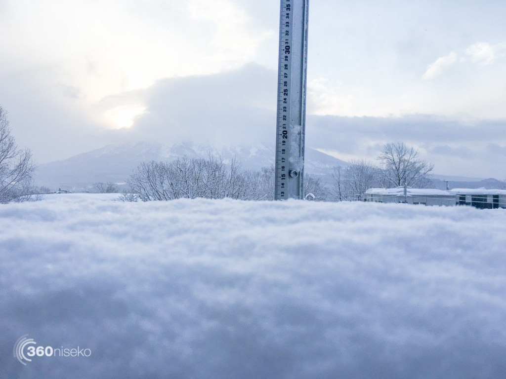 Snowfall in Hirafu Village, 11 March 2016