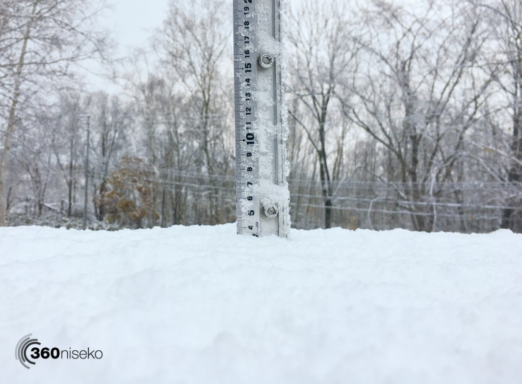 Snowfall in Niseko, 4 November 2016