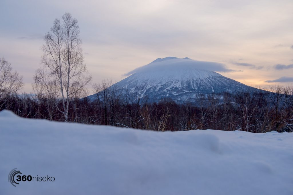 Sunrise over Mt.Yotei, 22 February 2017